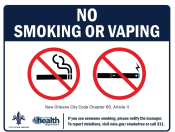 "8.5"" x 11"" MaxMetal Sign - No Smoking NOLA"