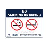NO SMOKING Ordinance Signs